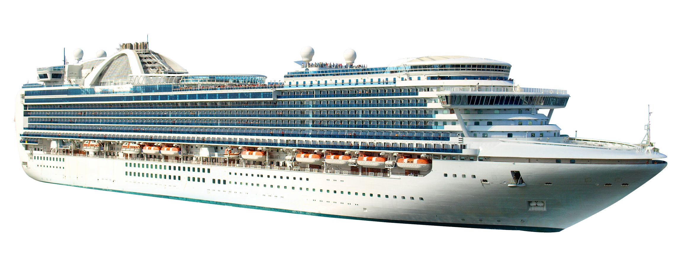 Cruise Ship PNG Transparent Image.