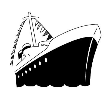 Free Cruise Ship Black And White Clipart, Download Free Clip.