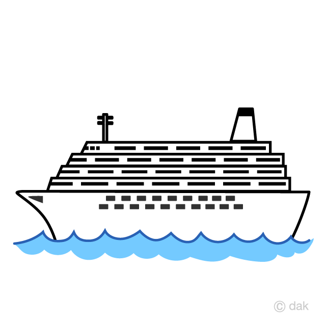 Simple Large Cruise Ship Clipart Free Picture|Illustoon.
