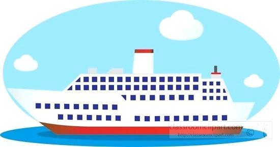 clipart cruise ship.