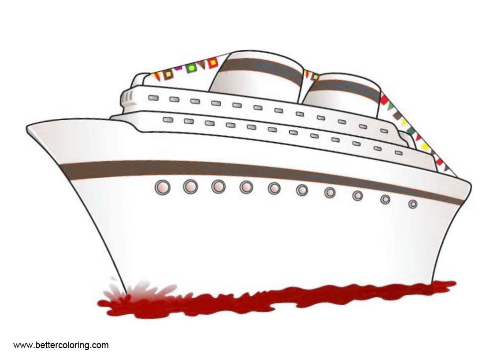 Cruise Ship Clip Art One the Sea.