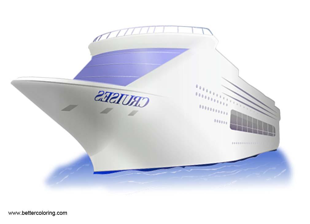 3D Cruise Ship Clip Art.