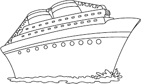 Cruise ship clip art black and white.
