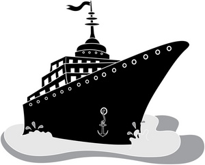 Voyage Black And White Clipart.