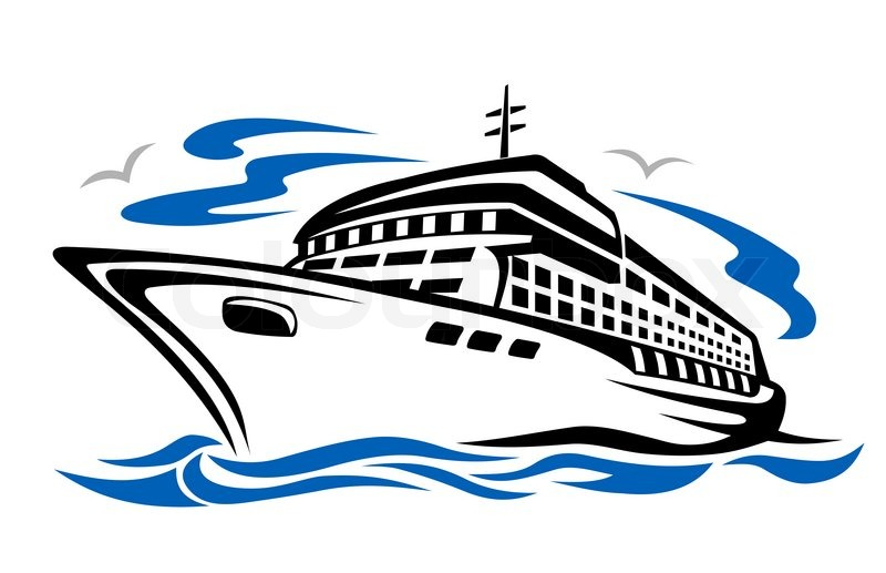 Free clip art cruise ship.