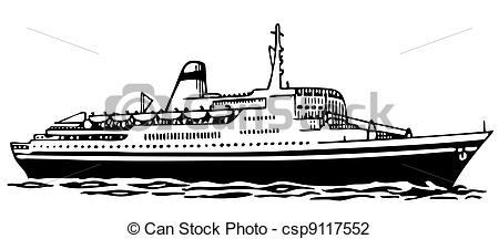 Cruise ship clipart black and white 6 » Clipart Portal.