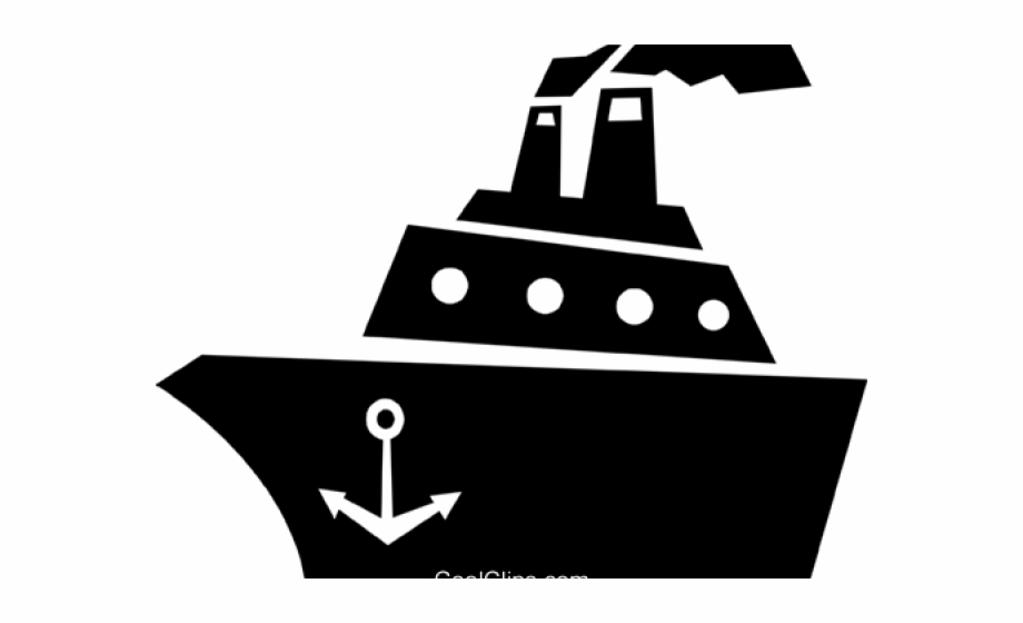 Cruise Ship Clipart Black And White, Transparent Png Download For.