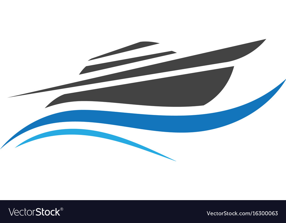Cruise ship logo template icon design.