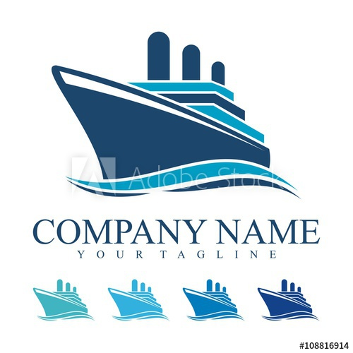 Ship Logo, cruise ship Logo Design Vector.