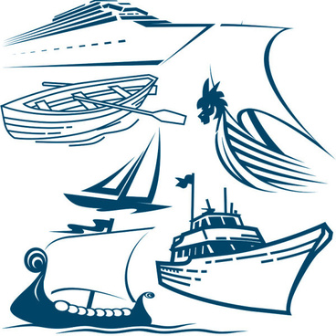 Cruise ship silhouette vector free vector download (6,219.