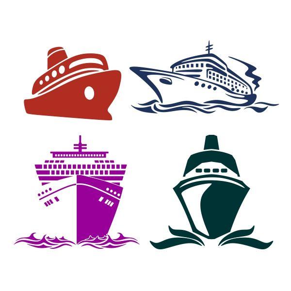 Cruise Ships SVG Cuttable Designs.