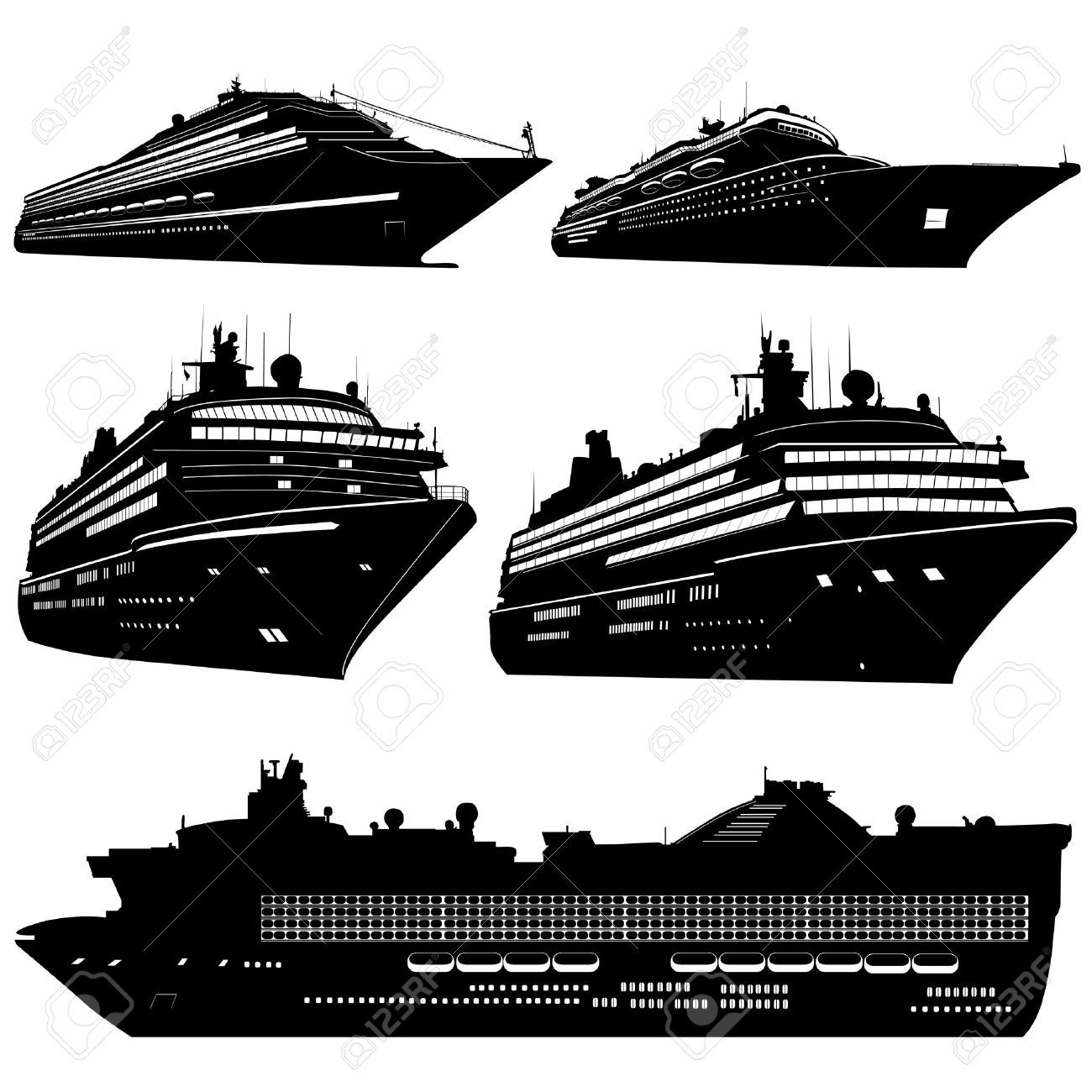 Free download Cruise Ship Silhouette Clipart for your.