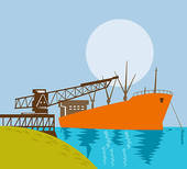 Ship dock clipart.