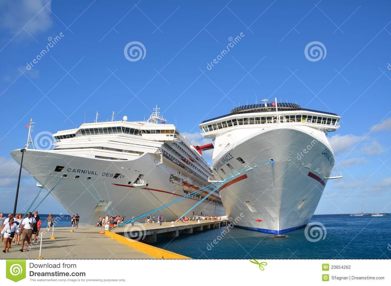 Cruise Ship Port Grand Turk Editorial Photography.