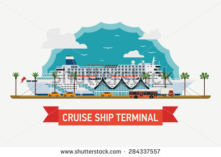 Cruise ship terminal clipart #2