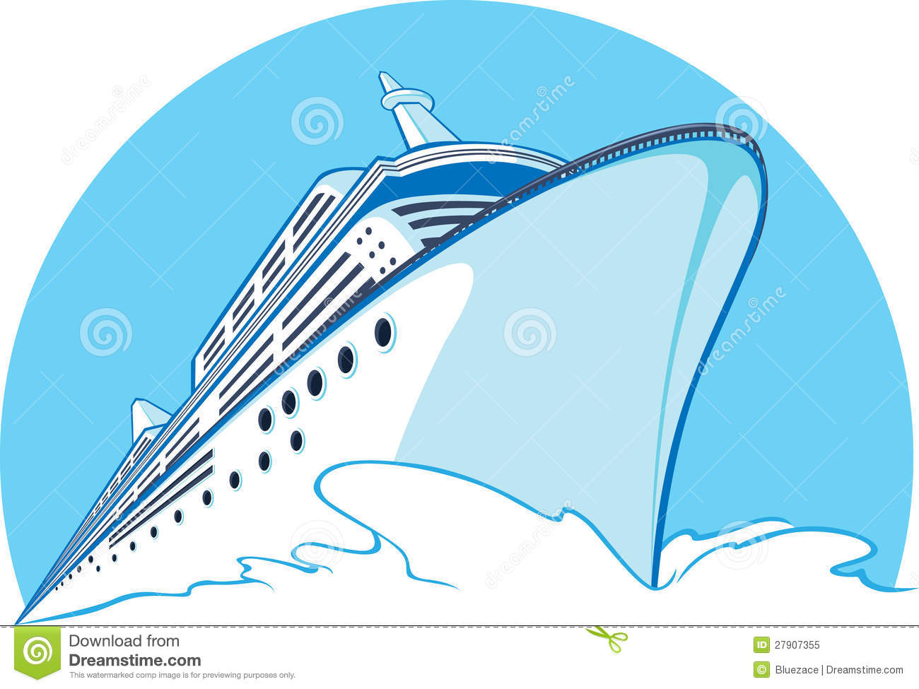 Animated Cruise Ship Clipart.