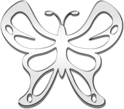 Cruiser Accessories : Butterfly Auto Decal.