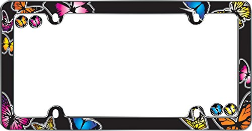 Cruiser Accessories 23053 Chrome 'Butterfly' License Plate Frame.