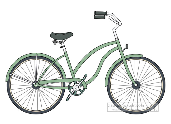 Beach cruiser clip art.
