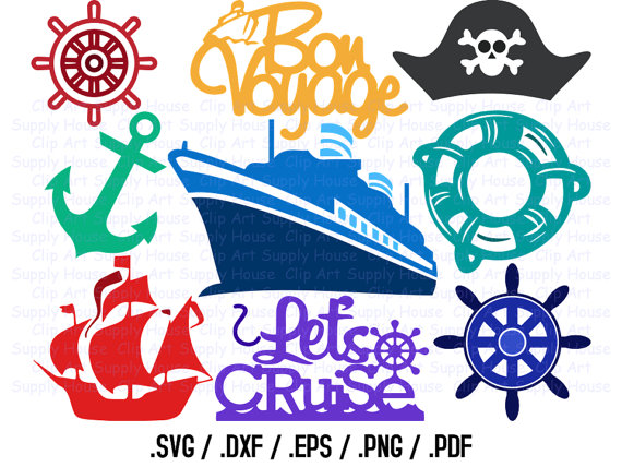 Cruise Ship Svg Files, Cruise Clipart, Cruise Boat Svg, Use.
