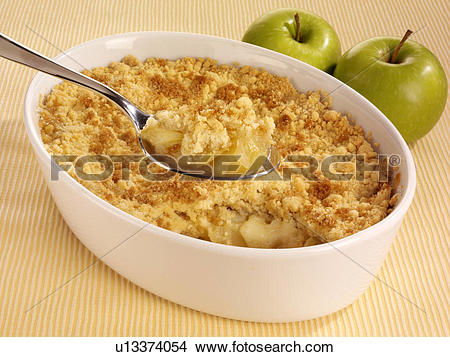 Stock Photo of Apple Crumble Dessert u13374054.