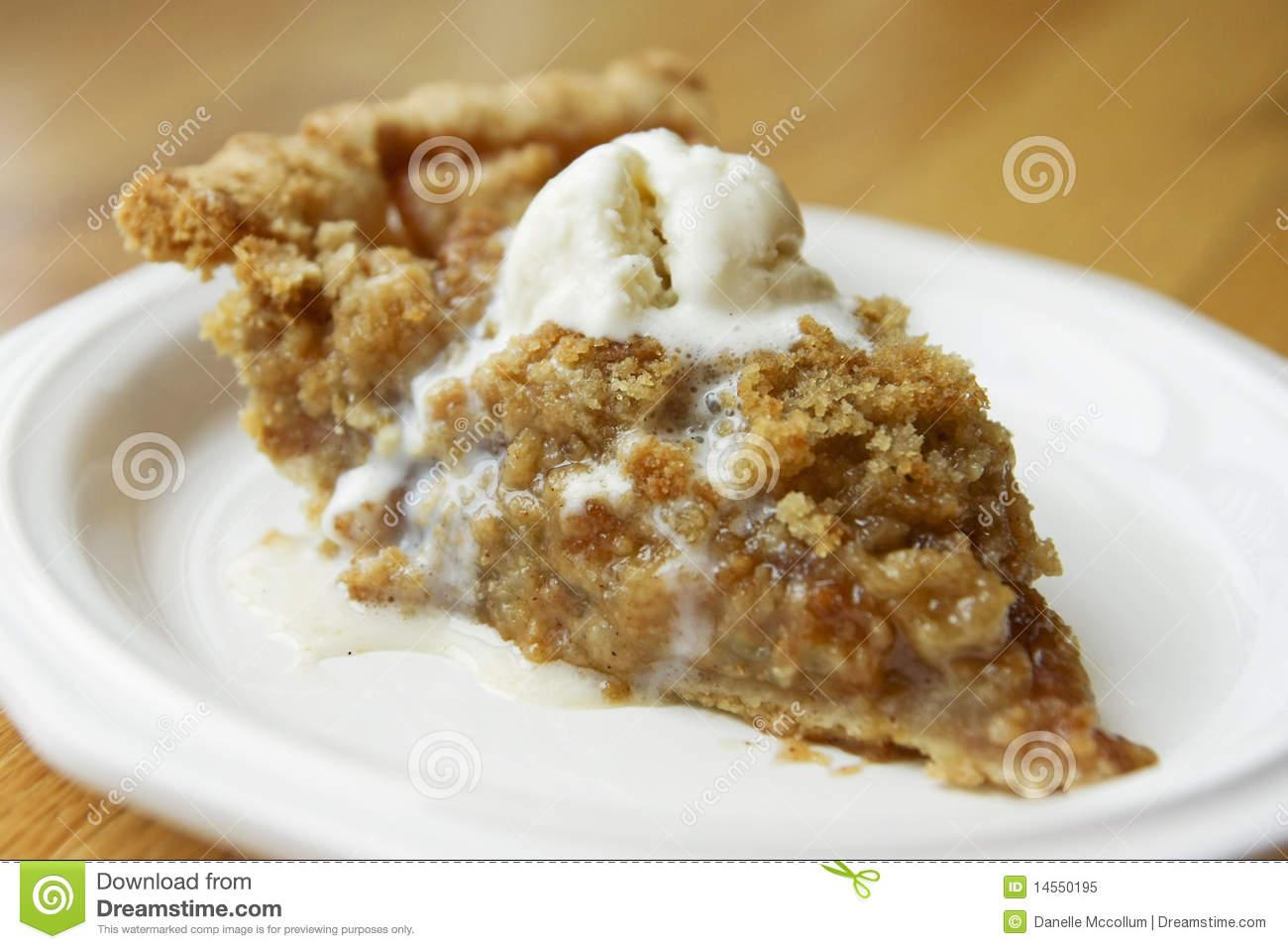 Apple Crumble Pie Royalty Free Stock Photo.