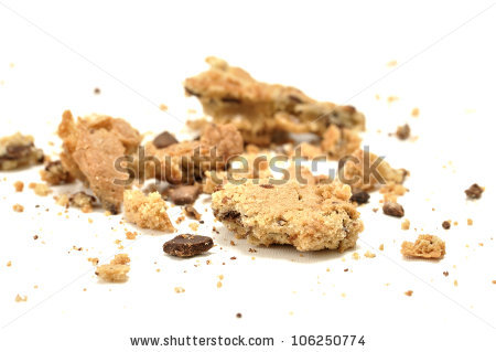 Crumbled Stock Photos, Royalty.
