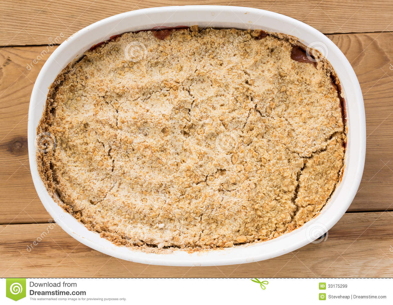 Dish Of Apple Crumble Royalty Free Stock Photo.