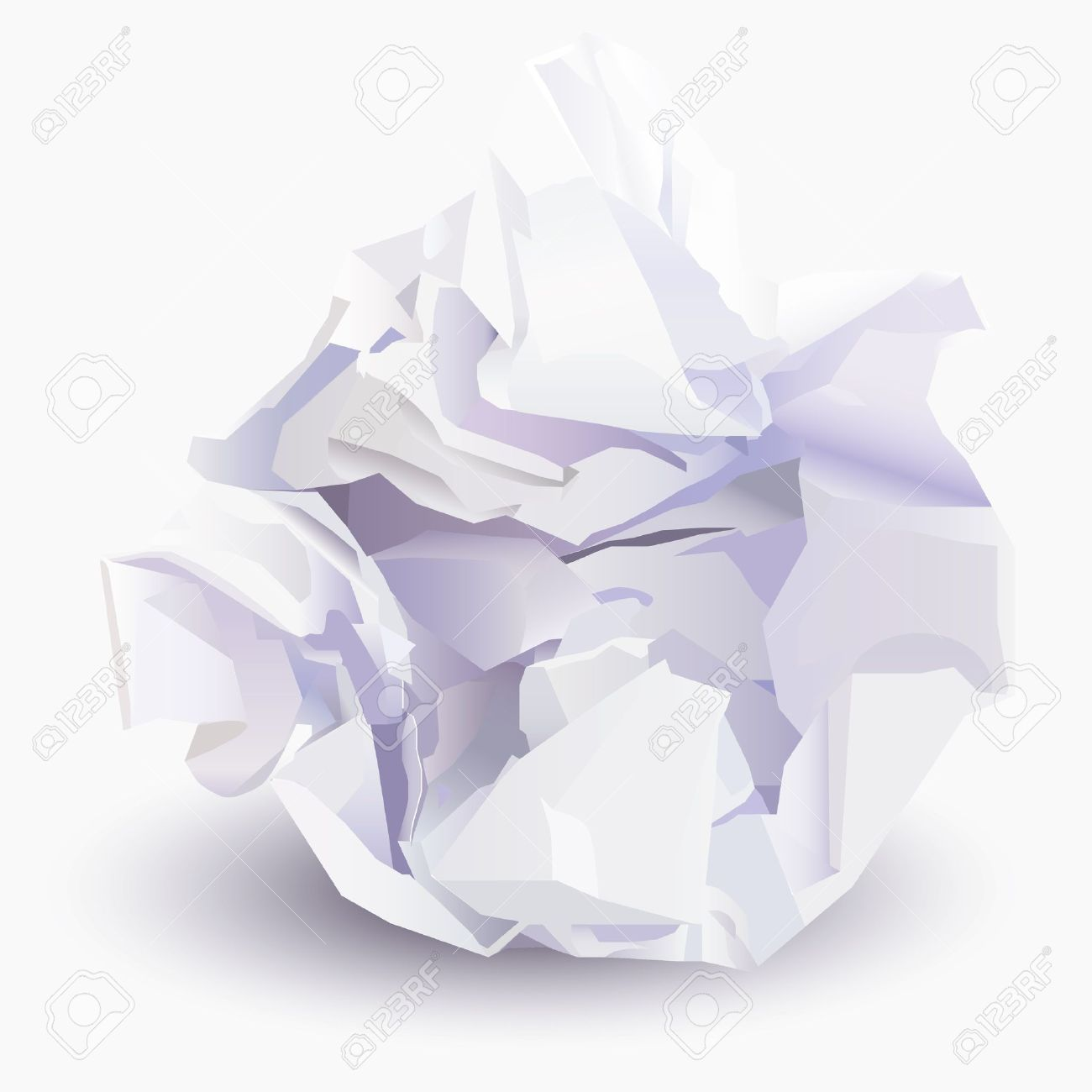 Crumpled paper clipart.