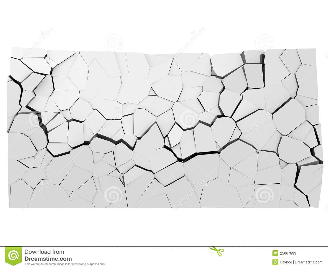 Crumbling Concrete Wall With Hole Royalty Free Stock Images.