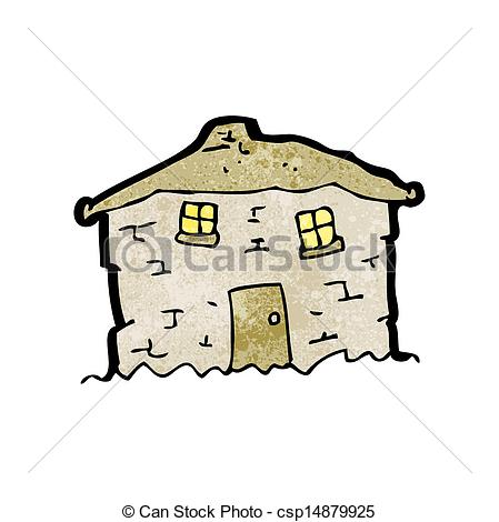 Vector Illustration of cartoon crumbling old house csp14879925.