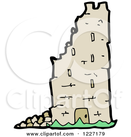 Clipart of a Crumbling Fortress.