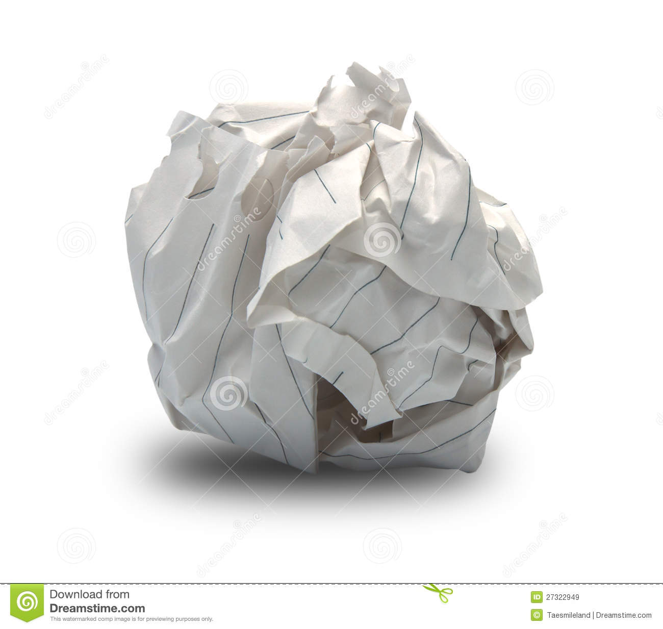 Crumpled up paper clipart.