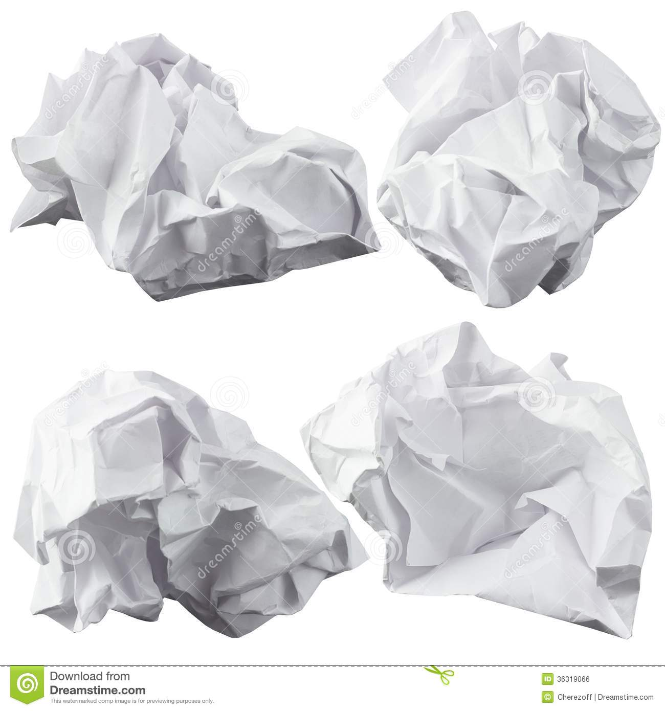Crumpled Paper Royalty Free Stock Image.