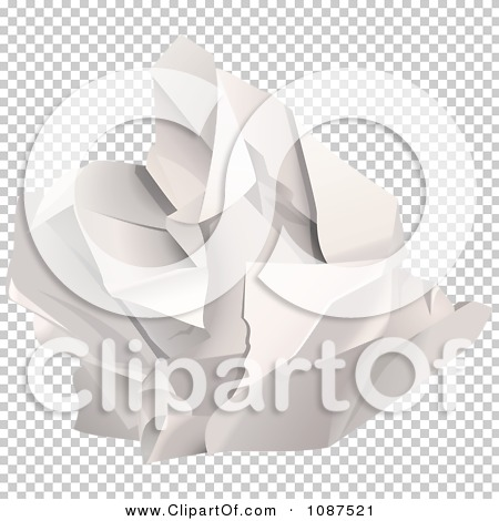 Clipart 3d Ball Of Crumpled Up Paper.