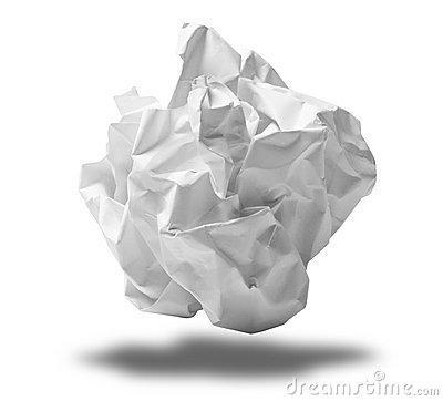 Crumpled Paper Clip Art.