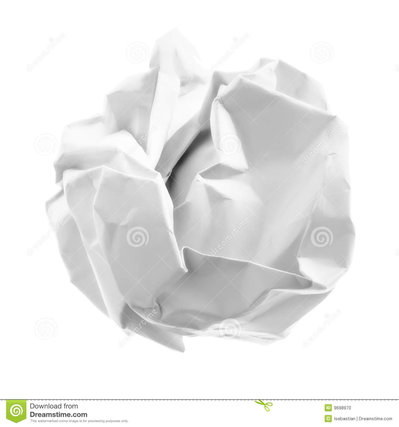 Set Of Squared Crumpled Paper Ball Royalty Free Stock Image.