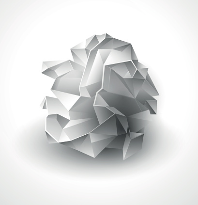 Crumpled paper ball clipart.