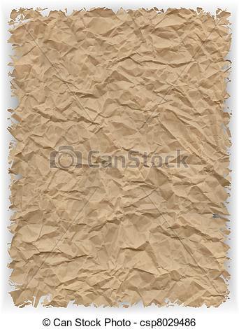 Clip Art Vector of crumpled paper background csp8029486.