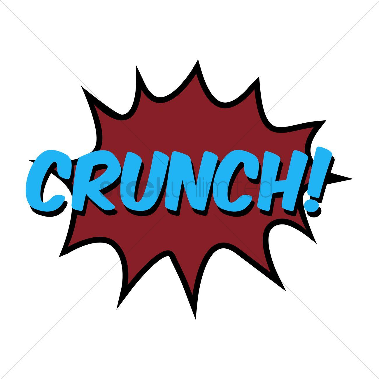 Comic bubble crunch Vector Image.