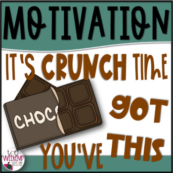 Crunch Time Motivation Worksheets & Teaching Resources.