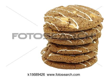 Stock Images of crunchy chocolate chip cookies k15689426.