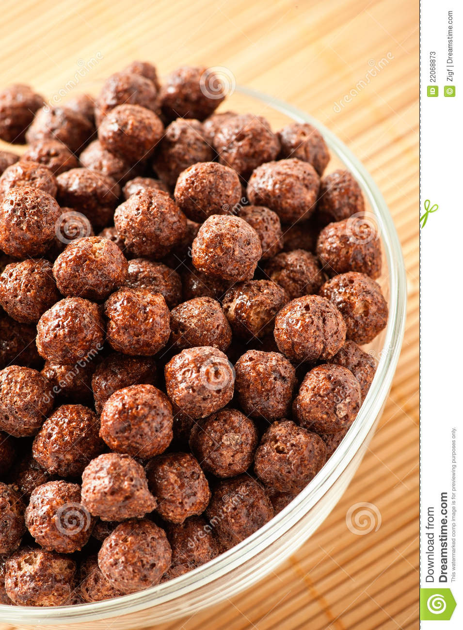 Crunchy Chocolate Balls Stock Photos.