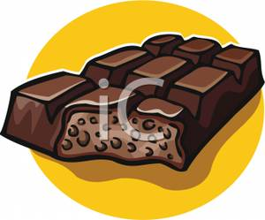 Art Image: A Crunchy Chocolate Bar.