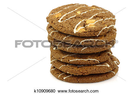 Stock Photography of crunchy chocolate chip cookies k10909680.