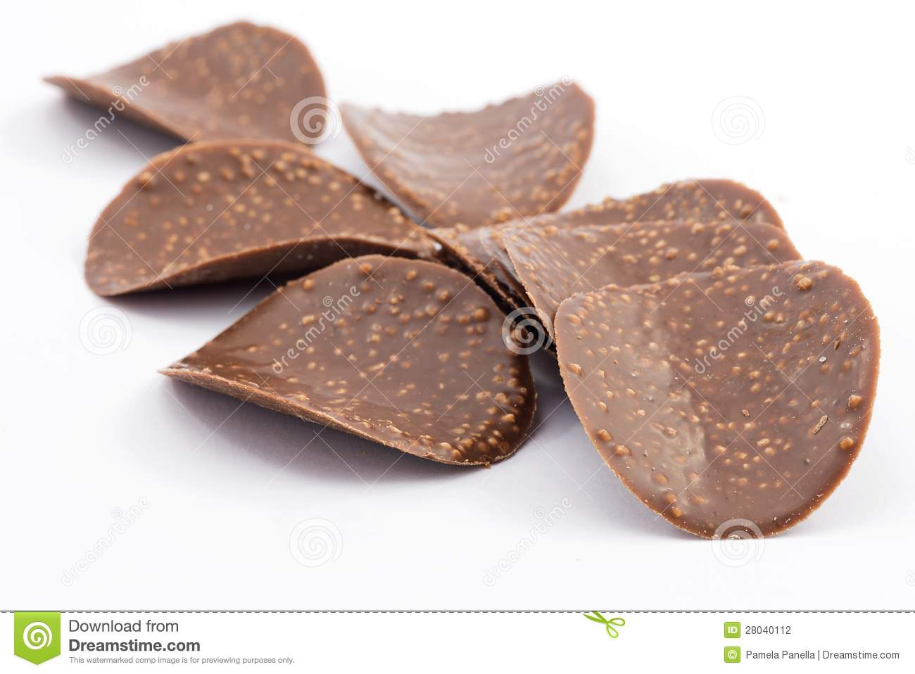 Crunchy Chocolate Stock Photography.