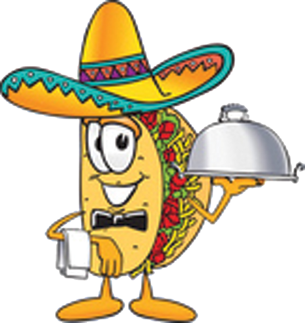Clip Art Graphic of a Crunchy Hard Taco Character.