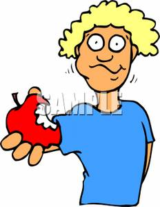 A_man_holding_an_apple_with_a_bite_taken_out_100817.