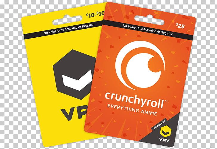 Crunchyroll Gift card Credit card Anime Funimation, Gift.