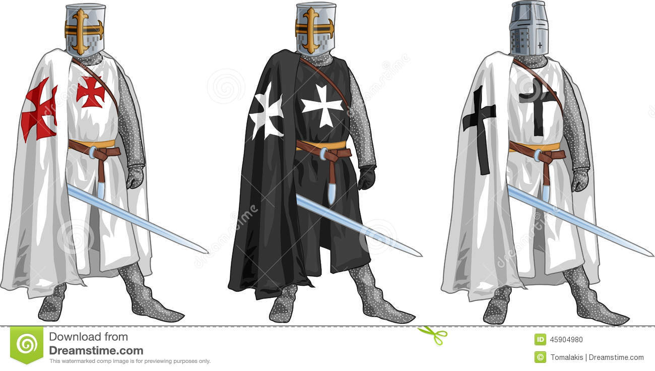 Crusader Stock Illustrations.